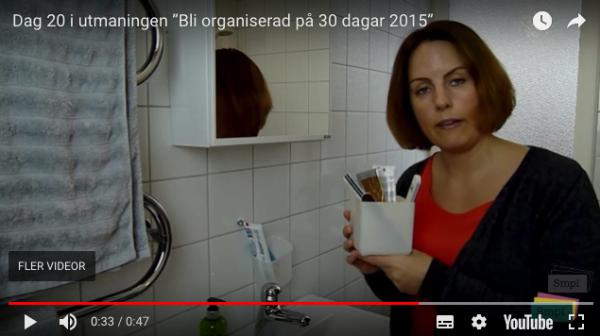 Brita Hahne ger dig de bästa tipsen för ordning och reda i badrumsskåpet