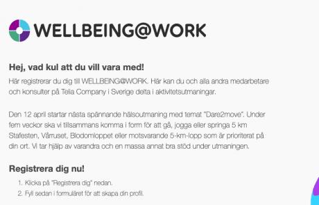 WELLBEING@WORK Telia Company